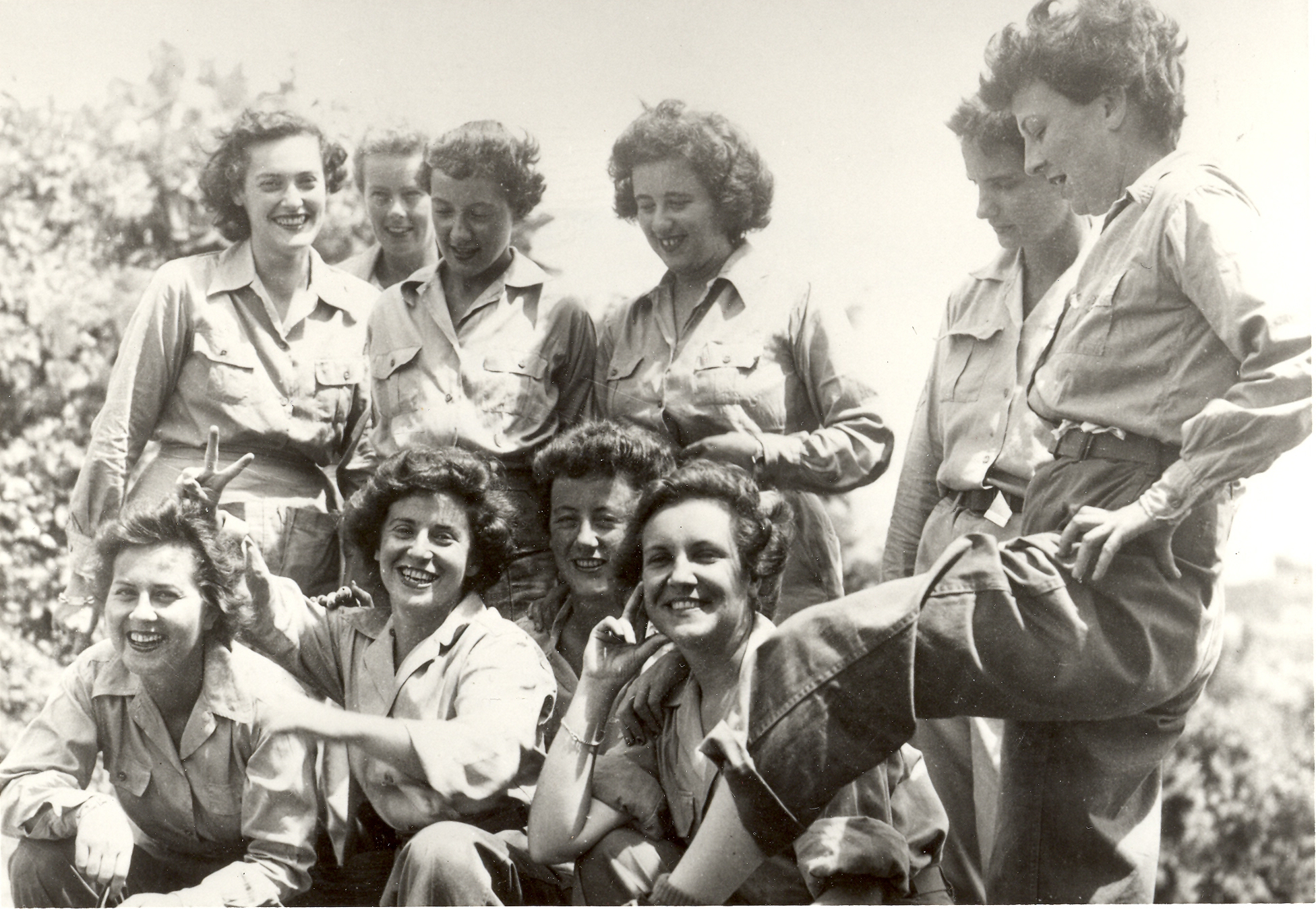 Rebecca Wolinsky and Fellow WACs in New Guinea