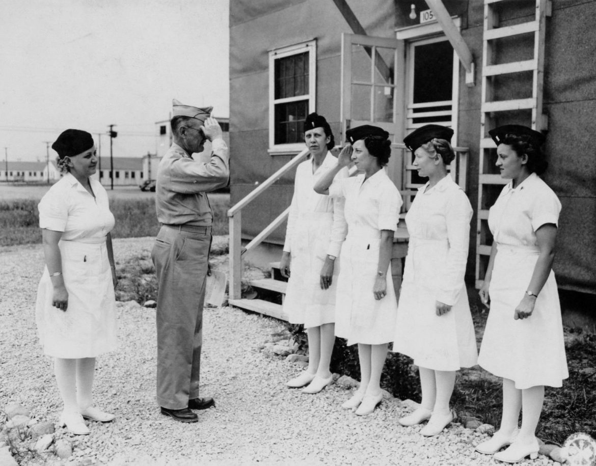 Army Nurses Promoted at Camp Atterbury Hospital