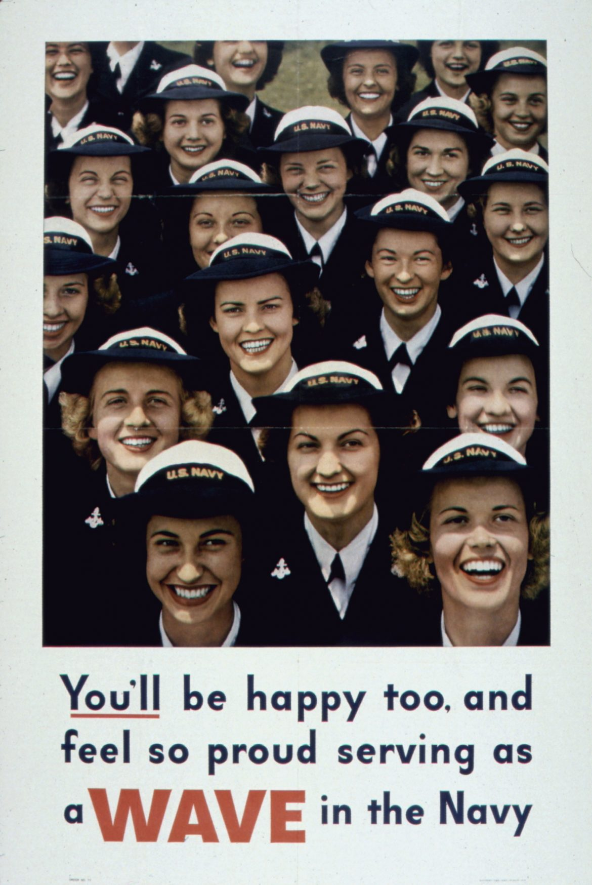 You'll Be Happy Too WAVES Recruiting Poster