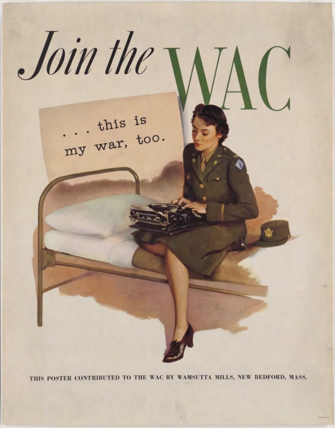 Join the WAC This is My War Too Recruiting Poster