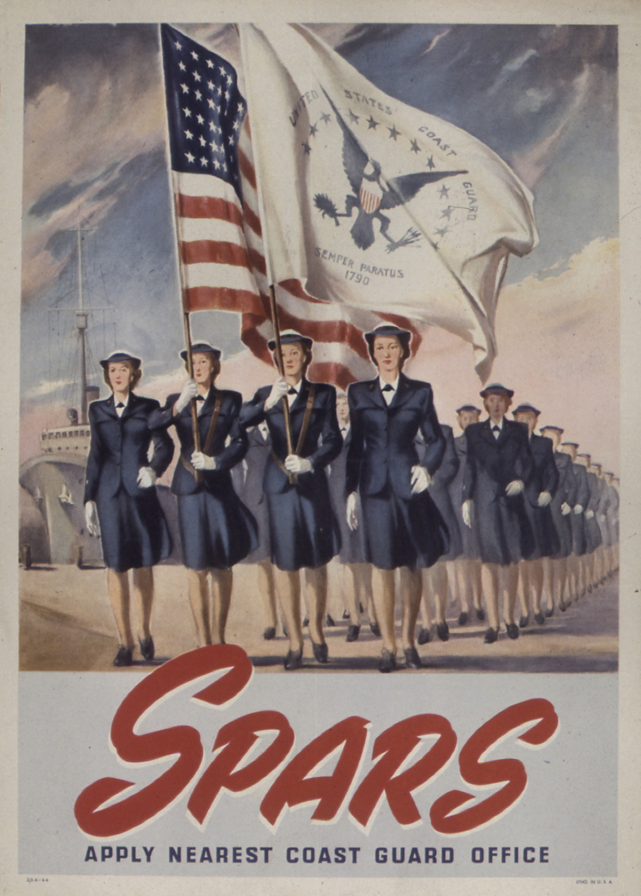 Coast Guard SPARS Recruiting Poster