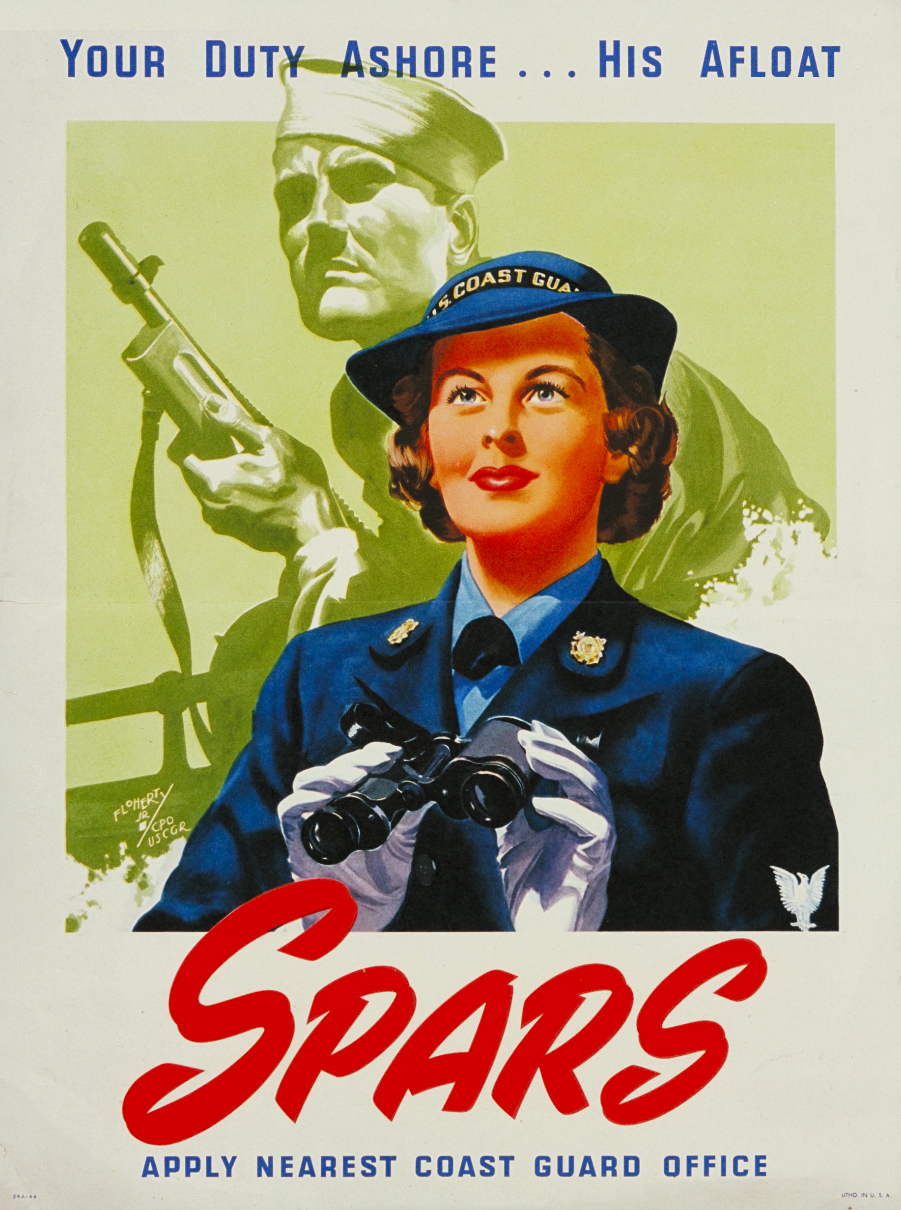 Your Duty Ashore, His Afloat SPARS Recruiting Poster