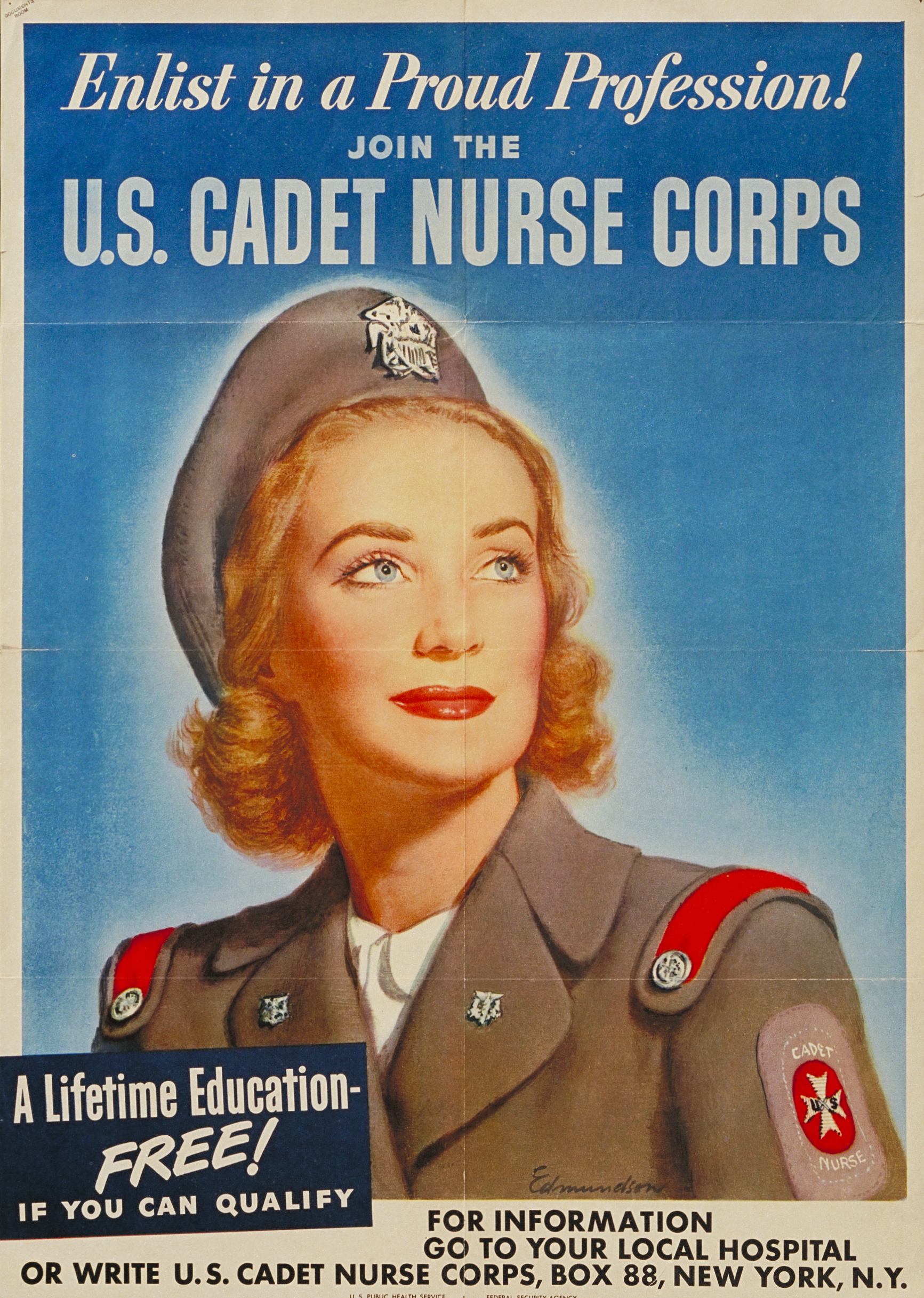 Enlist in a Proud Profession! U.S. Cadet Nurse Corps Poster