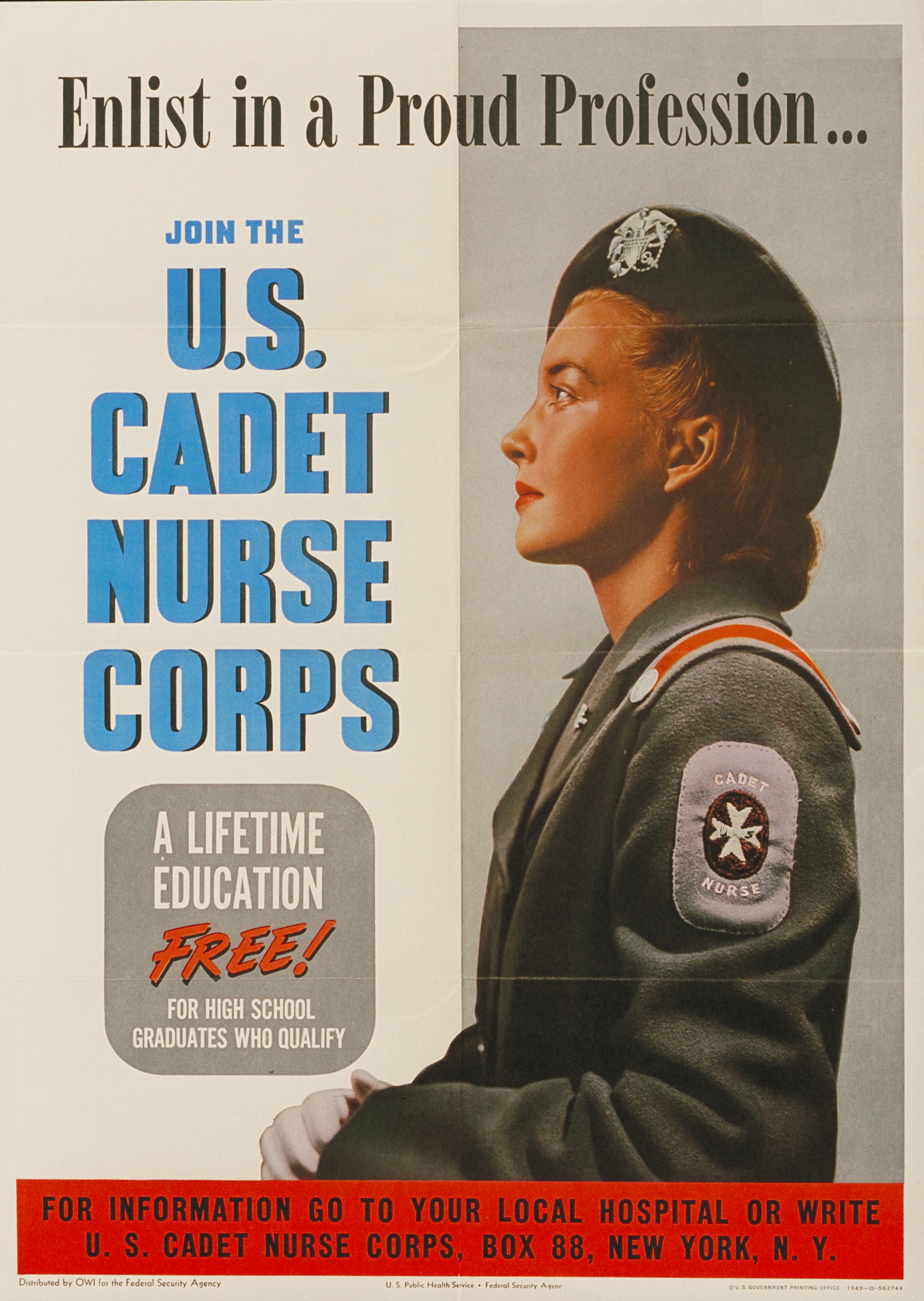 Join the U.S. Cadet Nurse Corps WWII Recruiting Poster