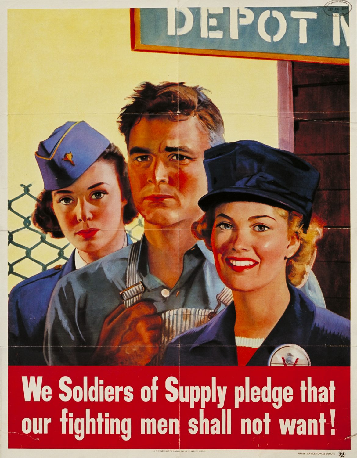 We Soldiers of Supply WWII War Jobs Poster