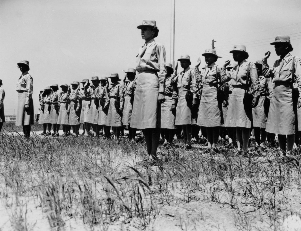 Swearing WACs into the Army at Camp Atterbury