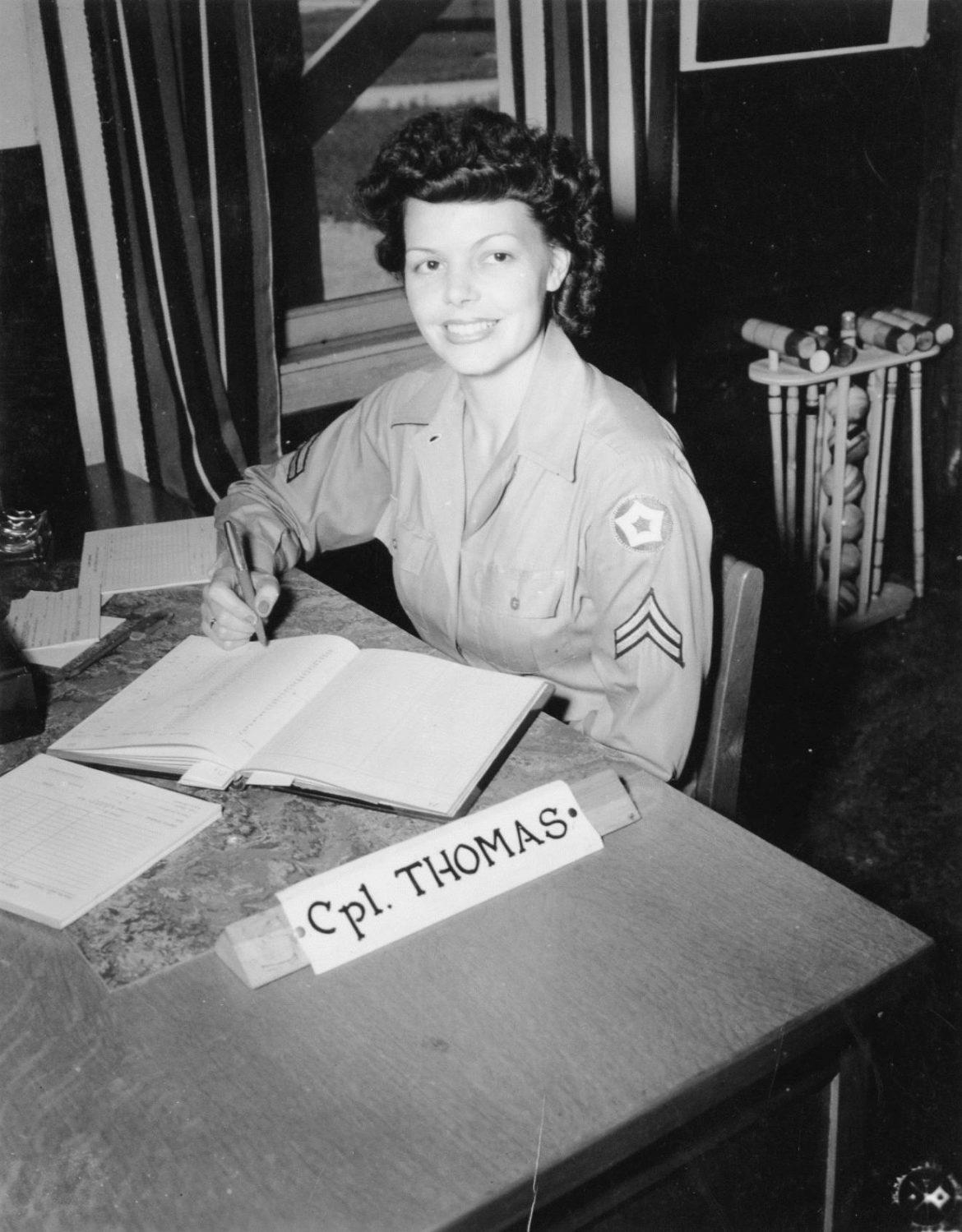 WAC Corporal at Camp Atterbury, Indiana