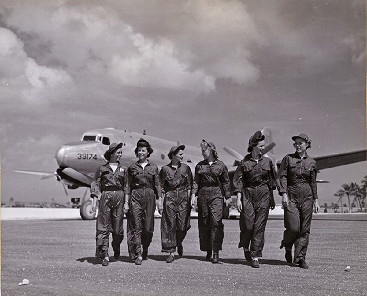 Navy Flight Nurses on Guam Airfield