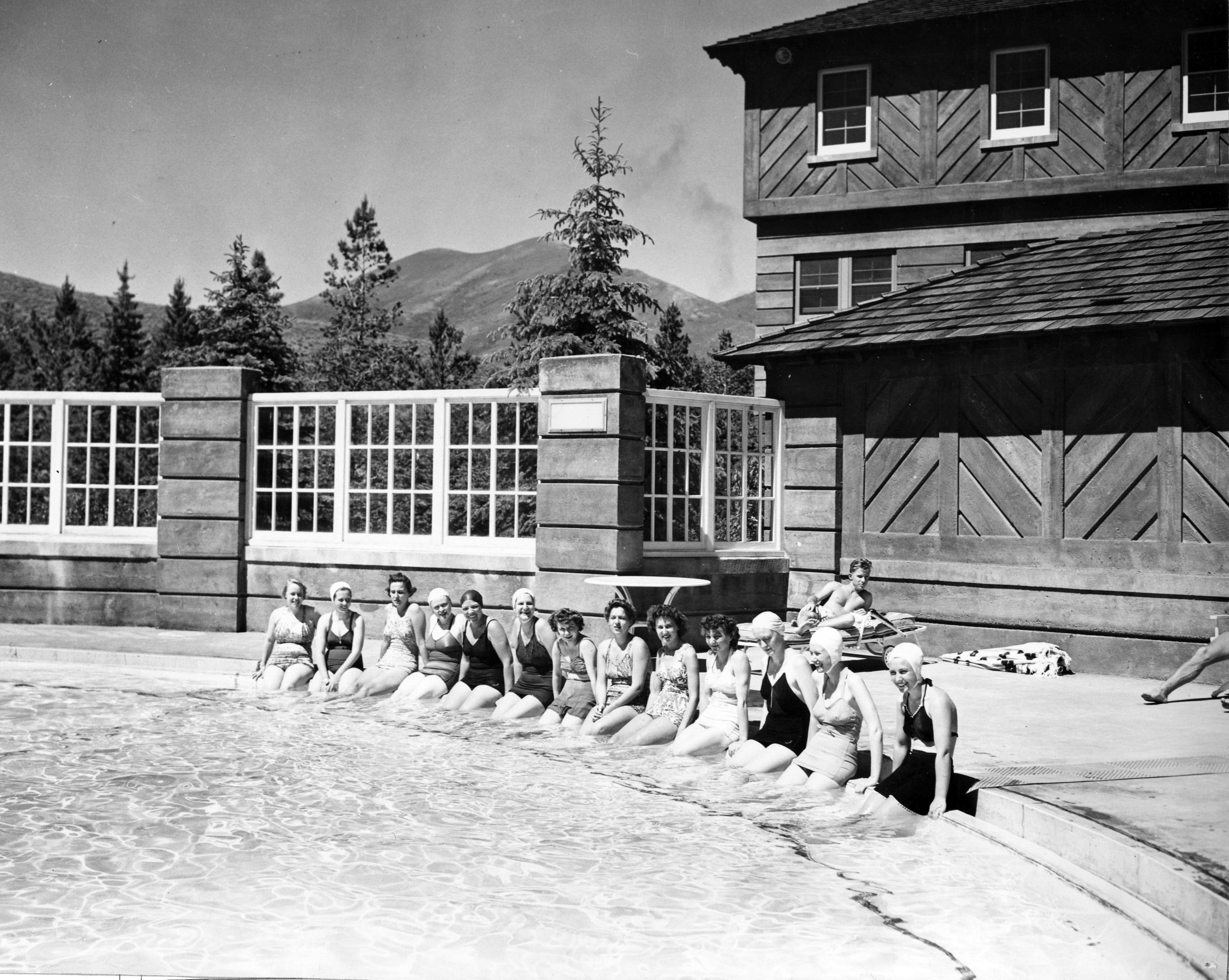 Navy Nurses Swim in Naval Hospital Pool