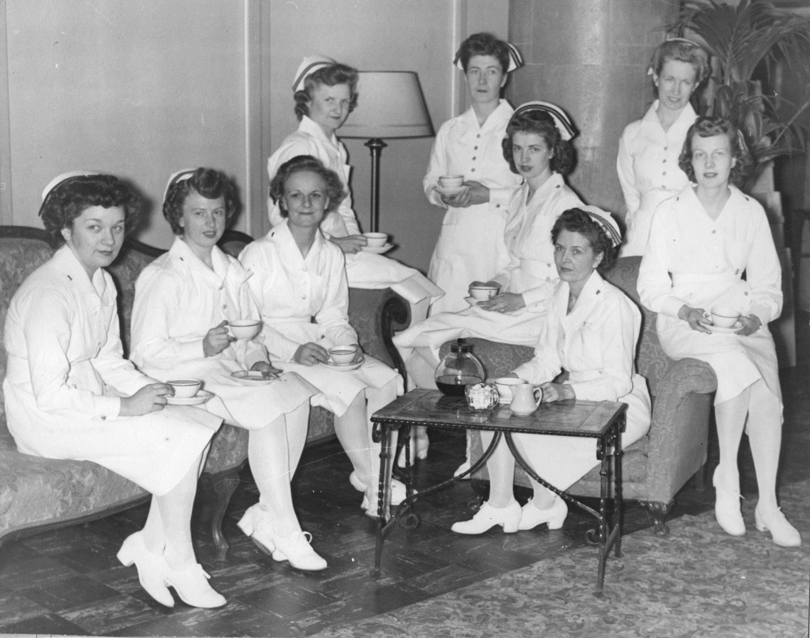 Navy Nurses at Brooklyn Naval Convalescent Hospital