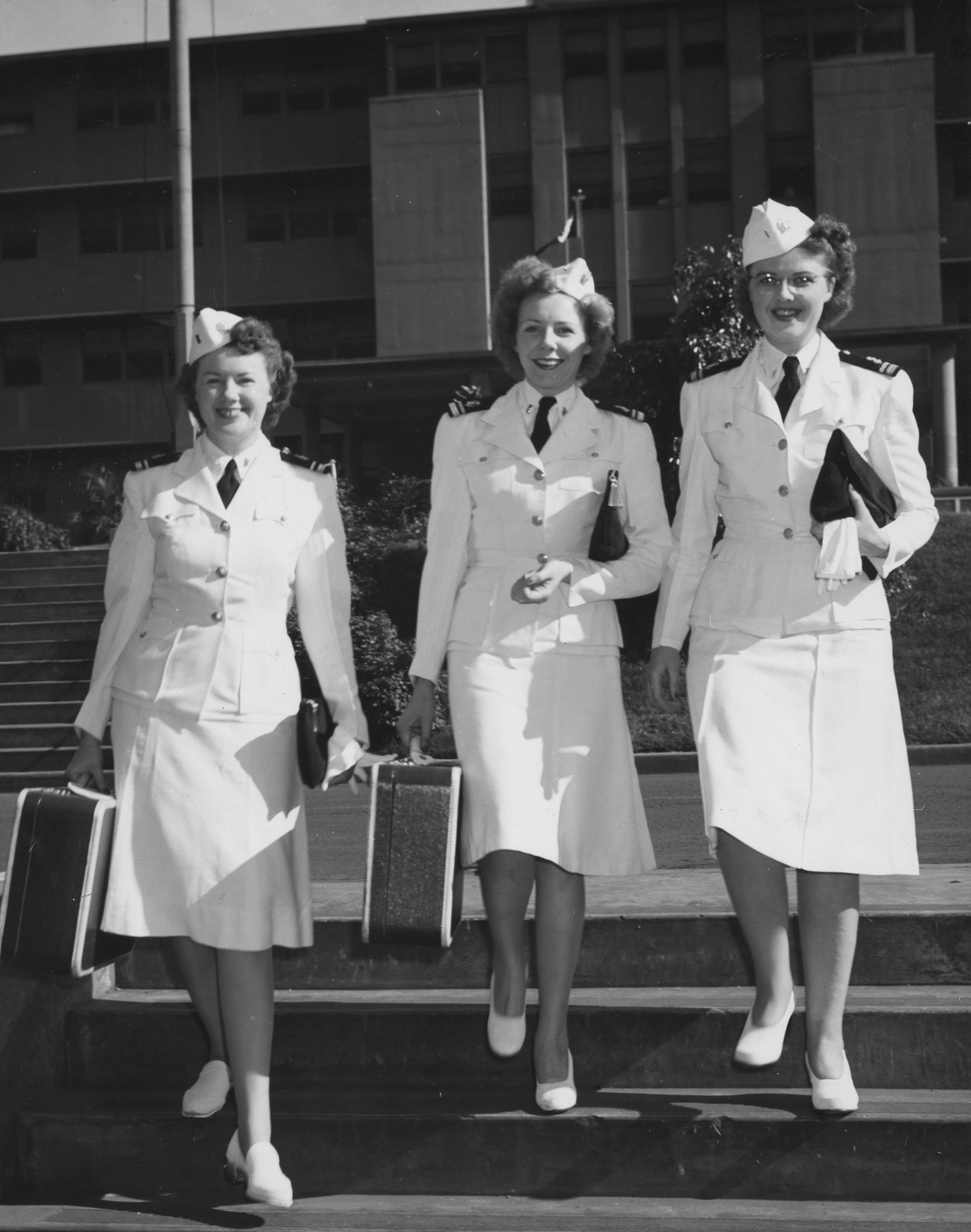Three Navy Nurses at Pearl Harbor Naval Hospital