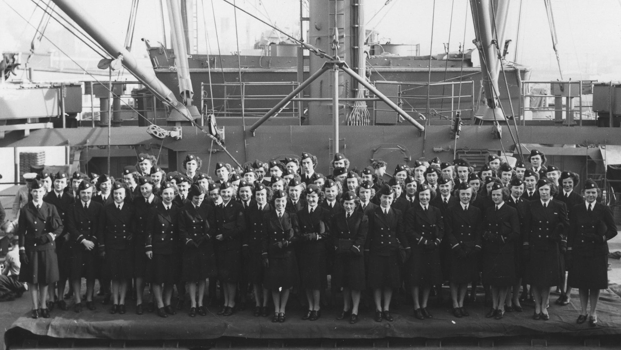 Nurses on the USS Hershaw in San Francisco