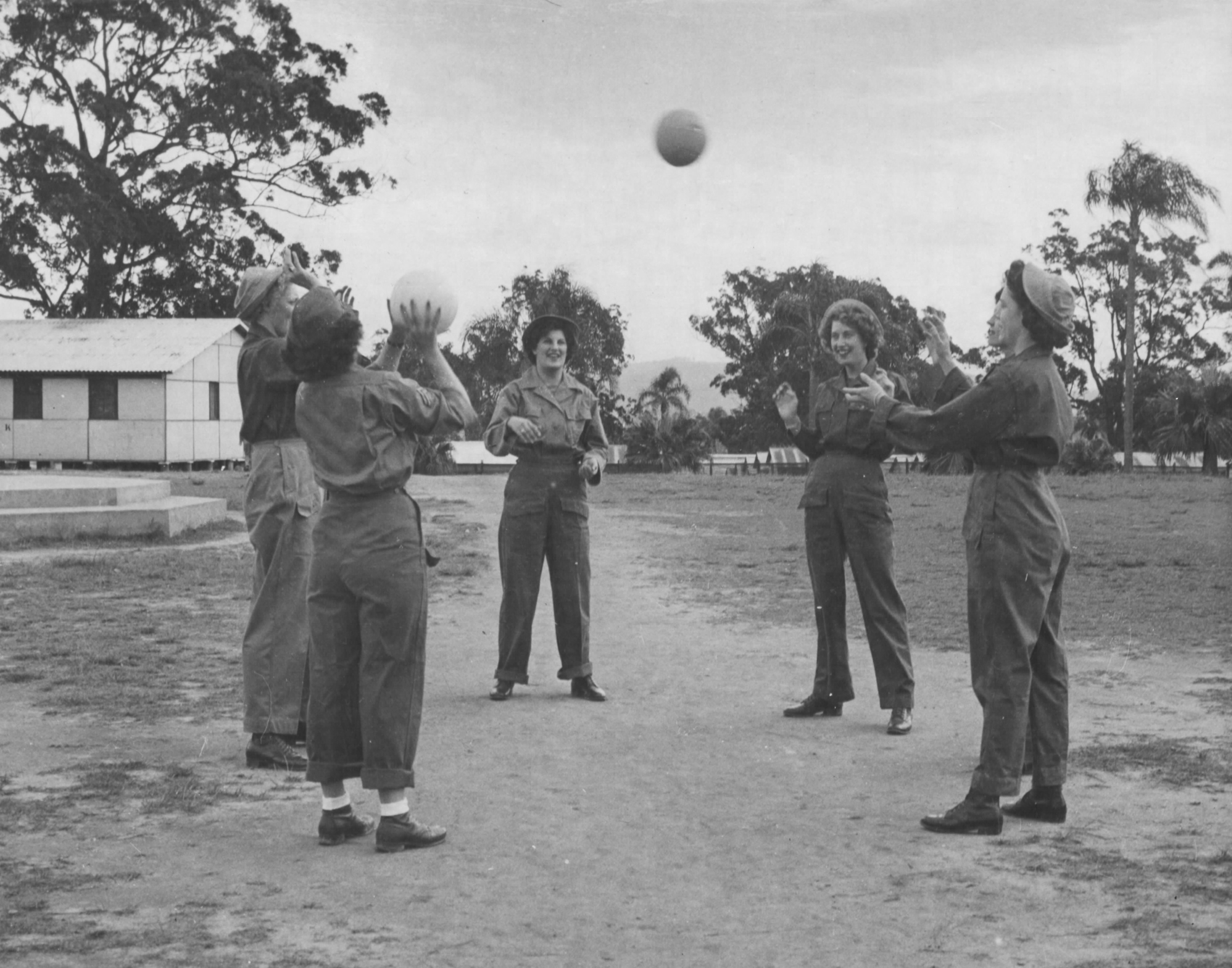Army WACs in Australia Playing Ball