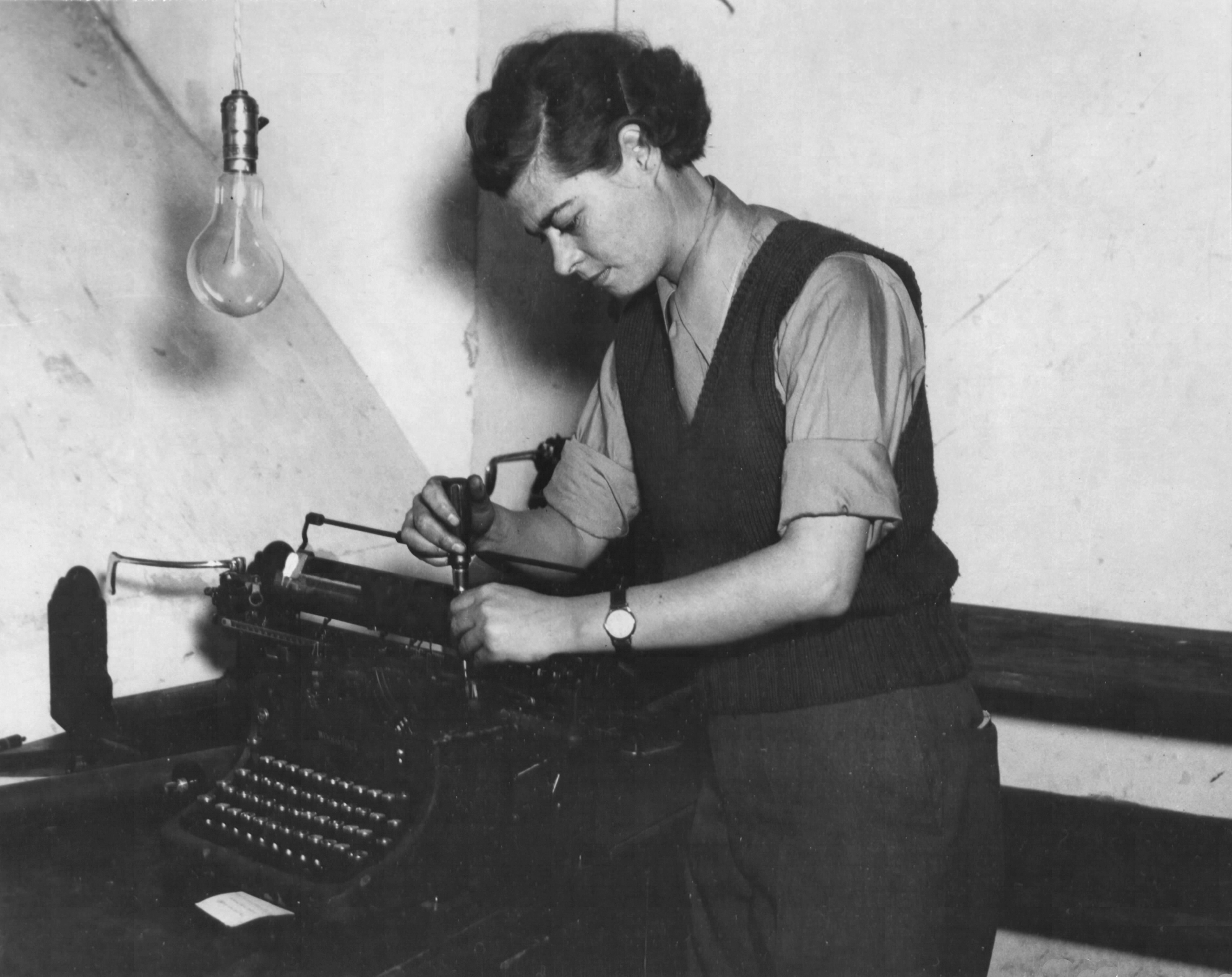 WAC Typewriter Mechanic Serving in Italy