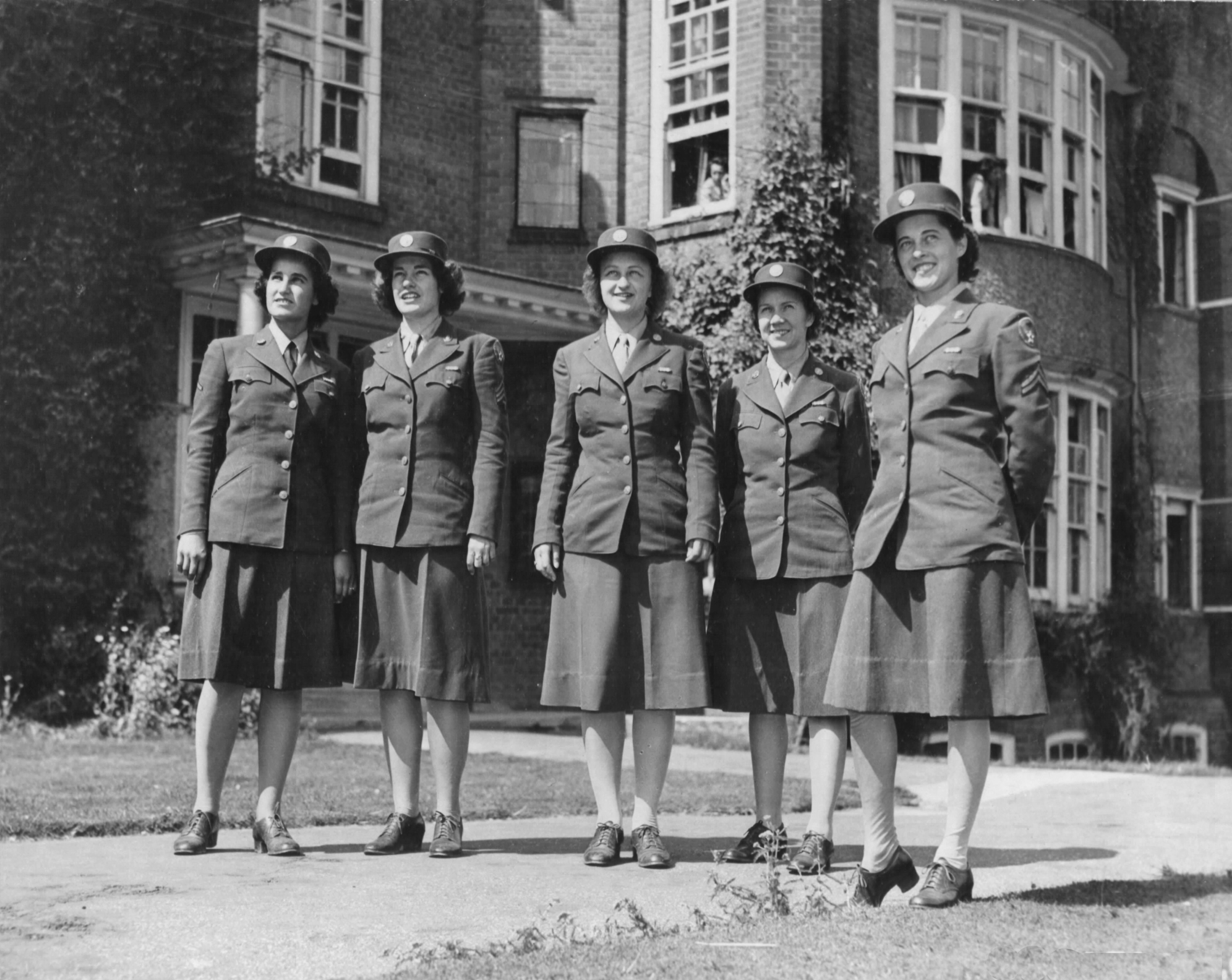 Arrival of WACs at Bomber Command in England