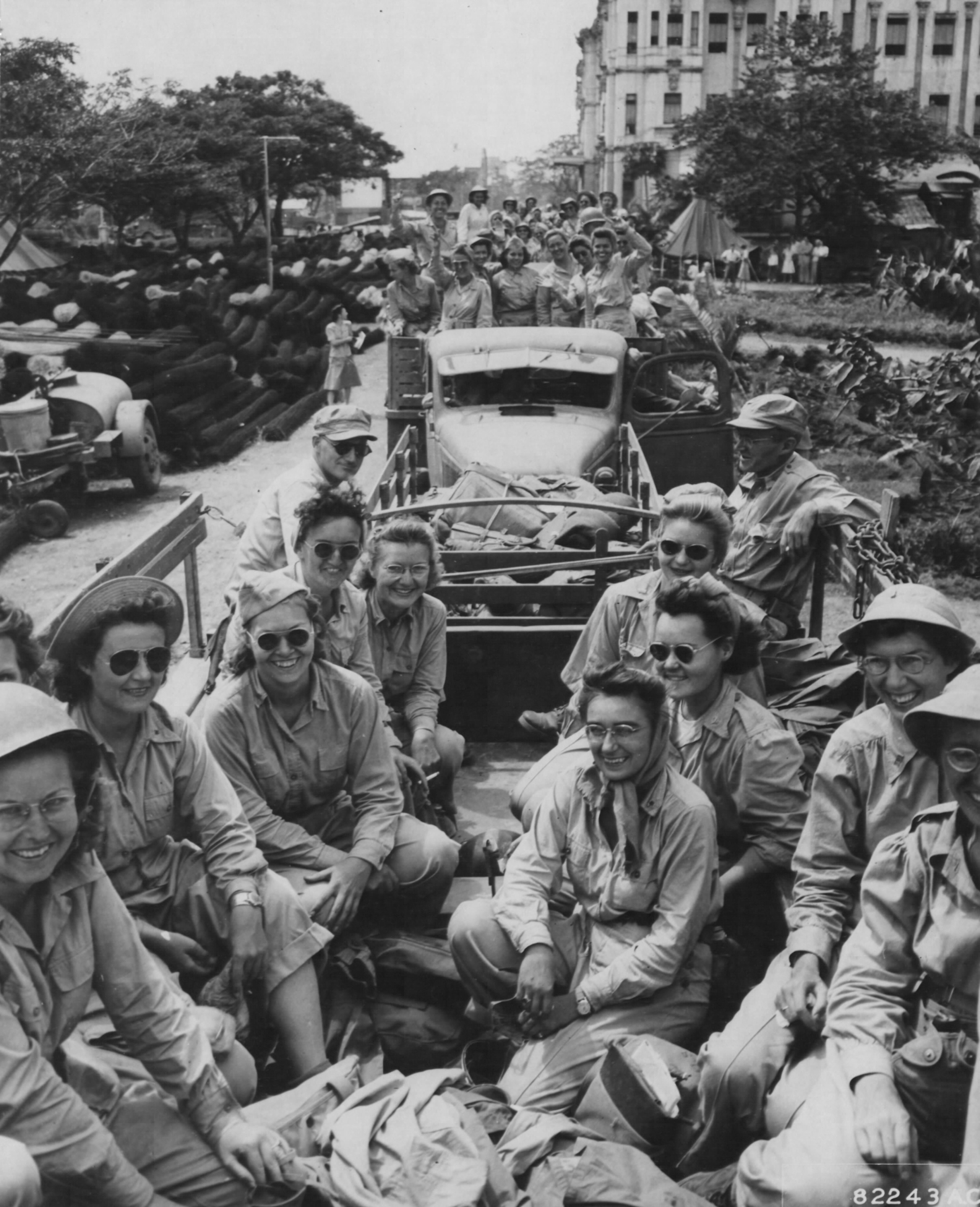 Replacement Group of Army Nurses Arrives at Santo Tomas