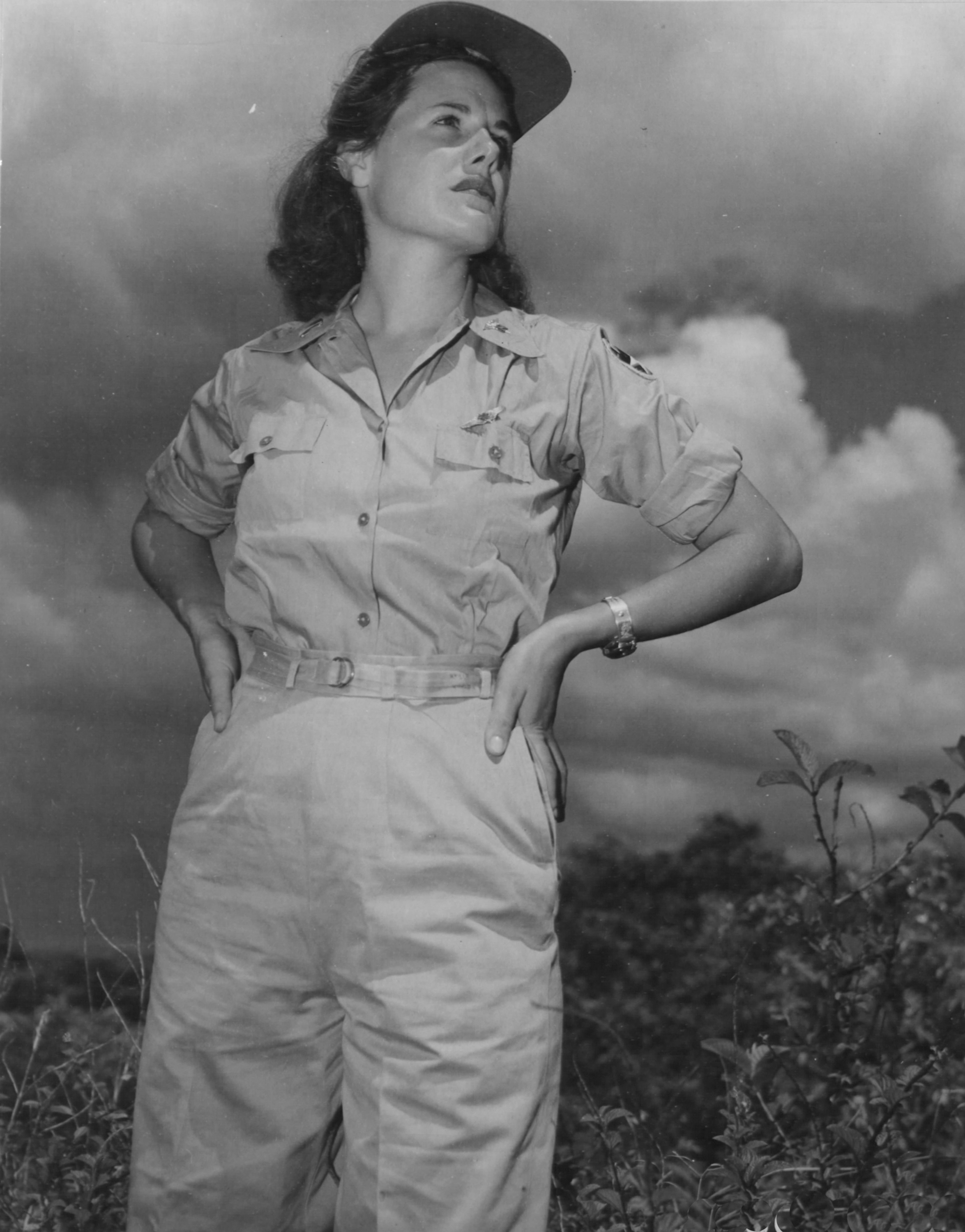 Army Flight Nurse in Bivouac Area in Oahu