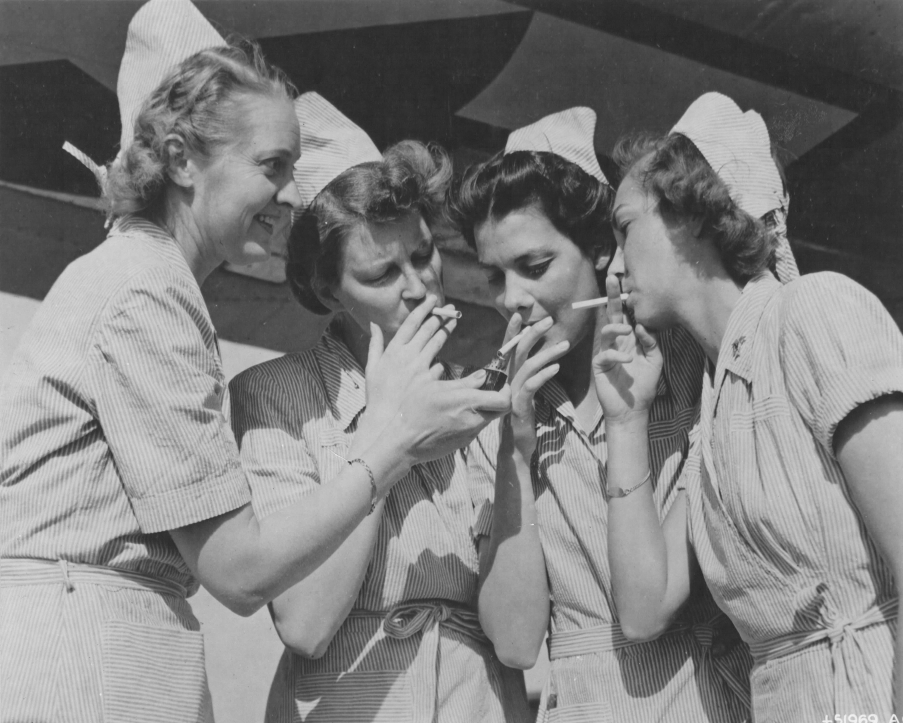 Army Nurses at Bomber Base in Russia