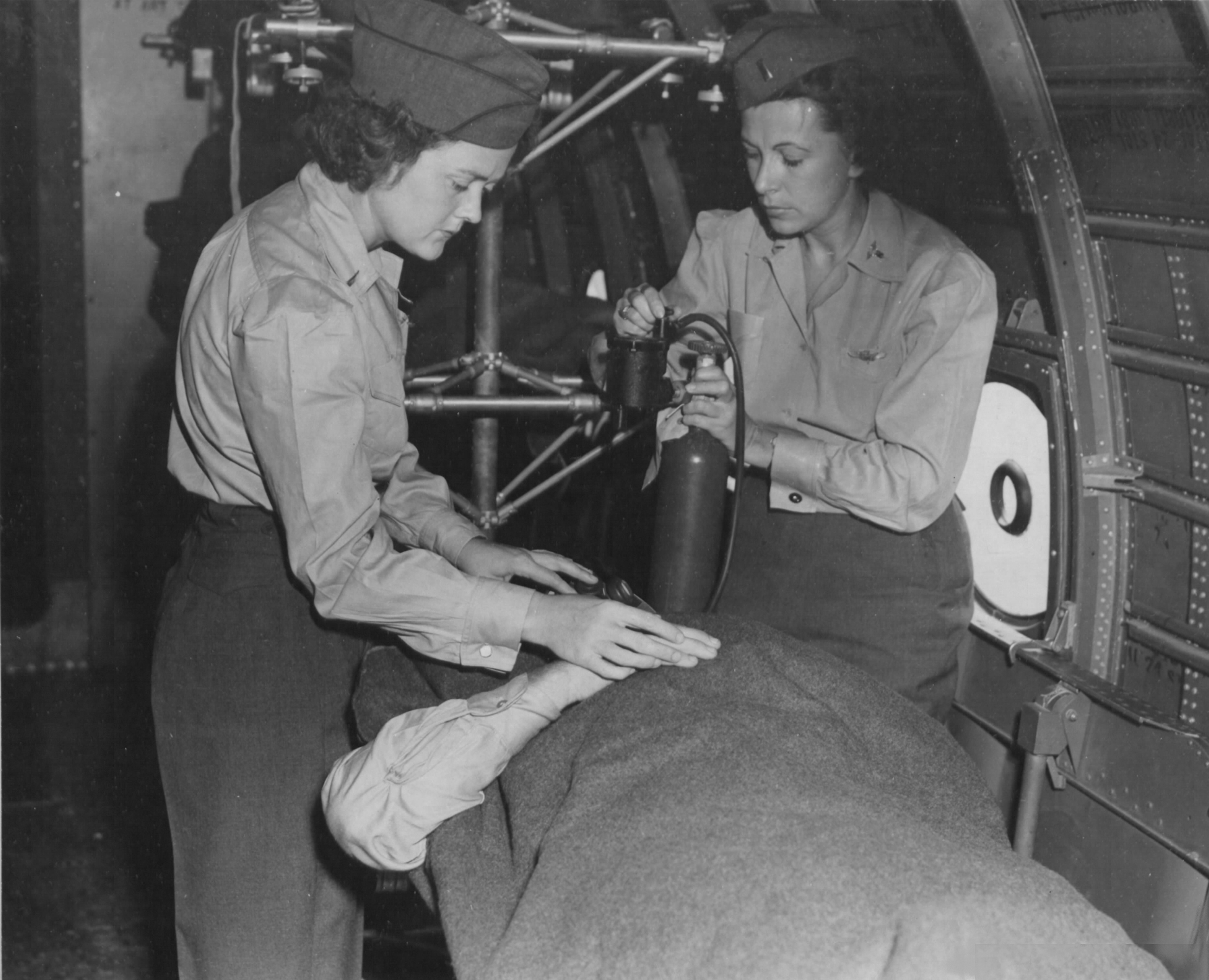 Flight Nurses Training at Bivouac Area in Hawaii