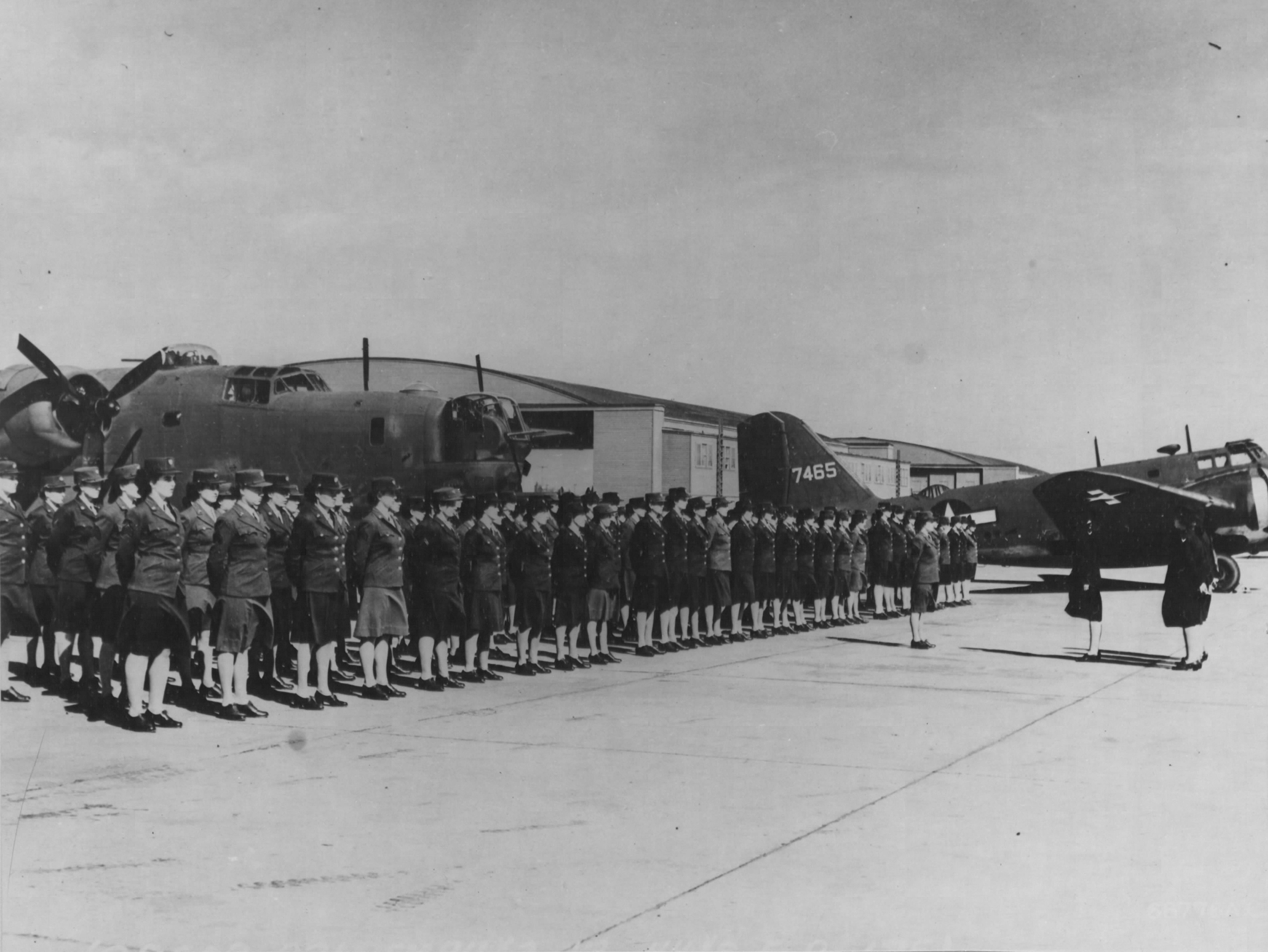 WACs Stand Inspection at Hawaiian Air Base