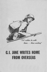 G.I. Jane Writes Home From Overseas