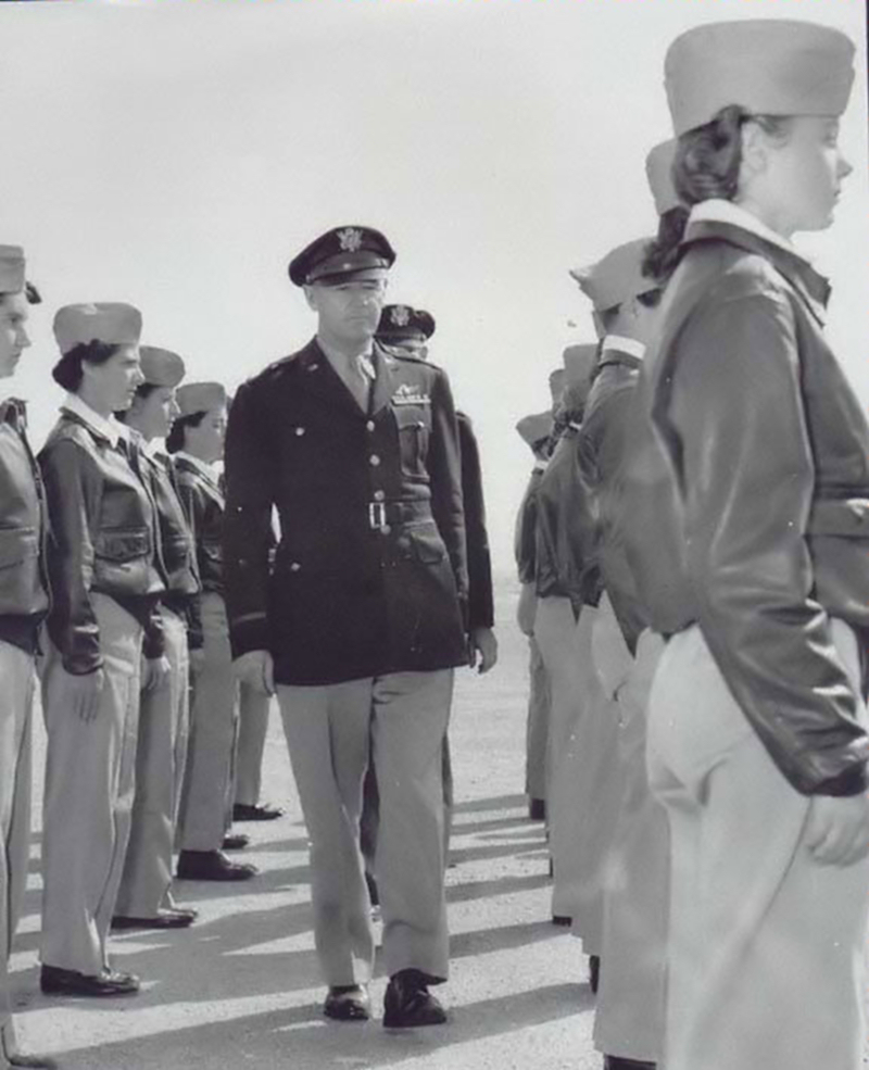 General Inspects the WASP Troops
