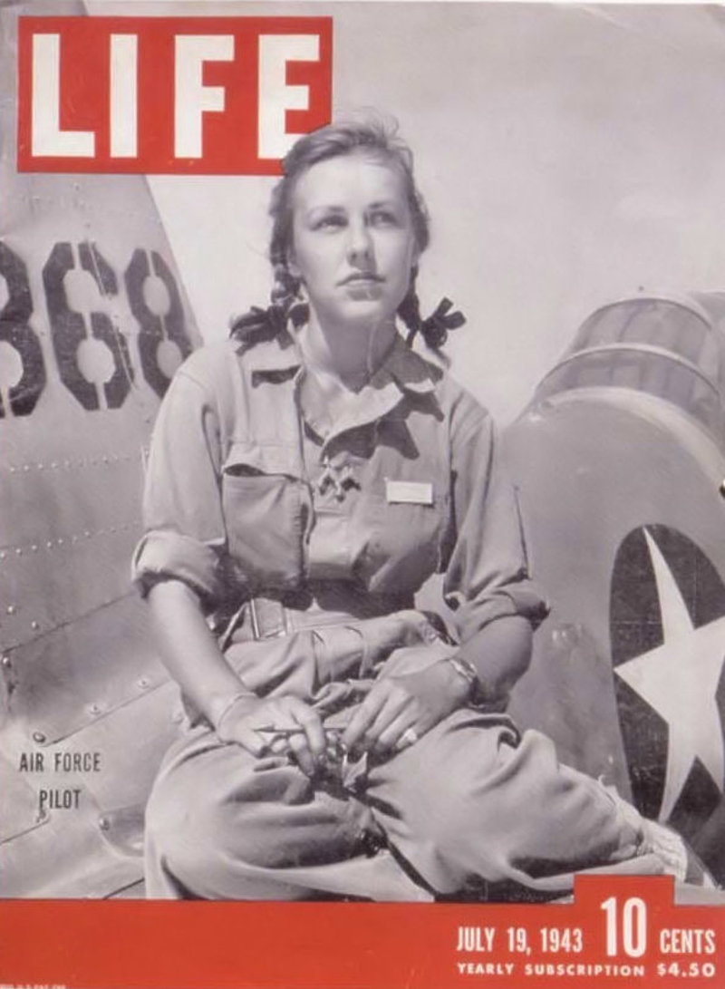 WASP Trainee Pilot on Cover of LIFE Magazine