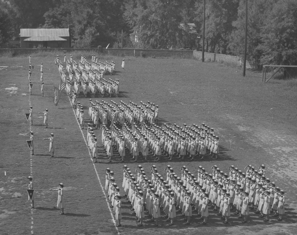 Navy WAVES in Formation at an Outdoor Ceremony