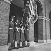Women Marines Present Colors at Washington, D.C.