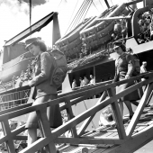 Women Marines Arriving For Duty in Hawaii during WWII
