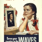 Wish I Could Join Too WWII WAVES Recruiting Poster