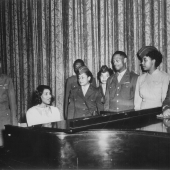Marian Anderson Entertains Veterans and WACs