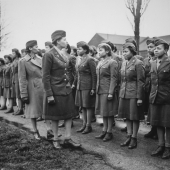 First Overseas African American WACs Undergo Inspection