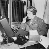 WAC Telephone Operator at Potsdam Conference