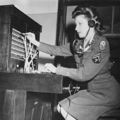 WAC Switchboard Operator at Potsdam Conference