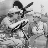 Colonel Oveta Culp Hobby at Mitchel Field