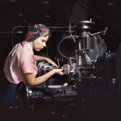 Woman machinist at Douglas Aircraft Company