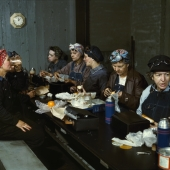 Women Railroad Workers on Lunch Break