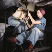 Women at Work on Bomber at Douglas Aircraft Company