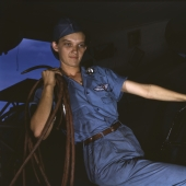 Department Store Girl Turned Cowler at Naval Air Base