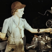 Aircraft Worker Reams Tools on Lathe Machine