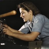 Former Waitress Works on Transport Parts in Hand Mill