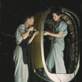 Female Riveters at Consolidated Aircraft Plant