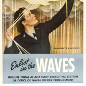 Enlist in the WAVES Recruiting Poster