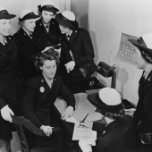 Enlisted WAVES Register in the Liberty Log
