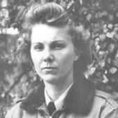 Portrait of WWII Army Flight Nurse Reba Whittle
