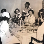 San Diego Naval Hospital Nurses Having Dinner