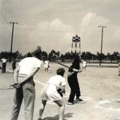 WACs and WAVES Play Softball at Tyndall Field