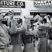 Army WACs and Soldiers Drinking Coca Cola