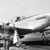 WASP Pilot Prepares Plane for Ferry Flight